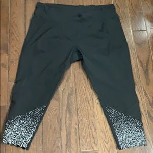 Pants - Plus pull on performance legging with dot print